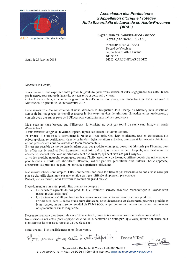 courrier APAL
