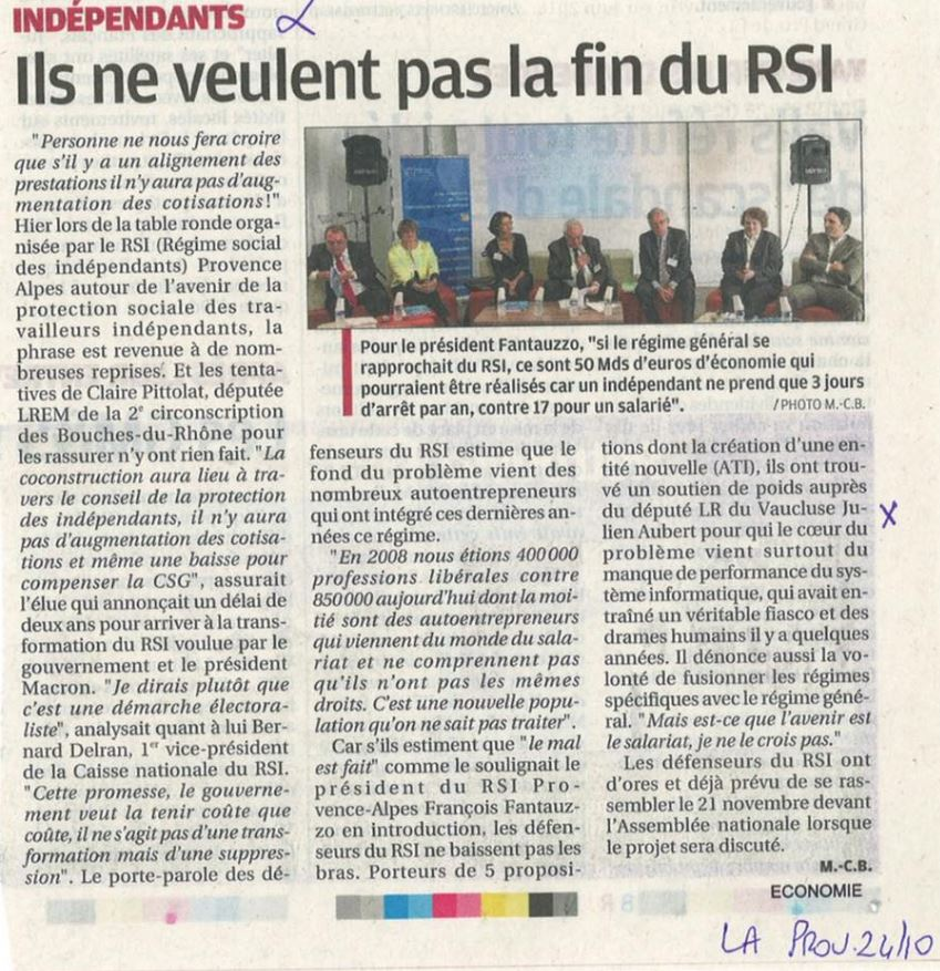 la provence table ronde RSI